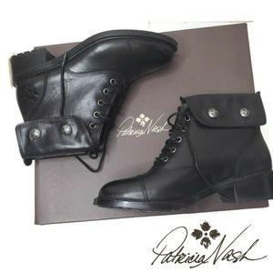 Patricia Nash NWT Lia black combat boots size 5.5